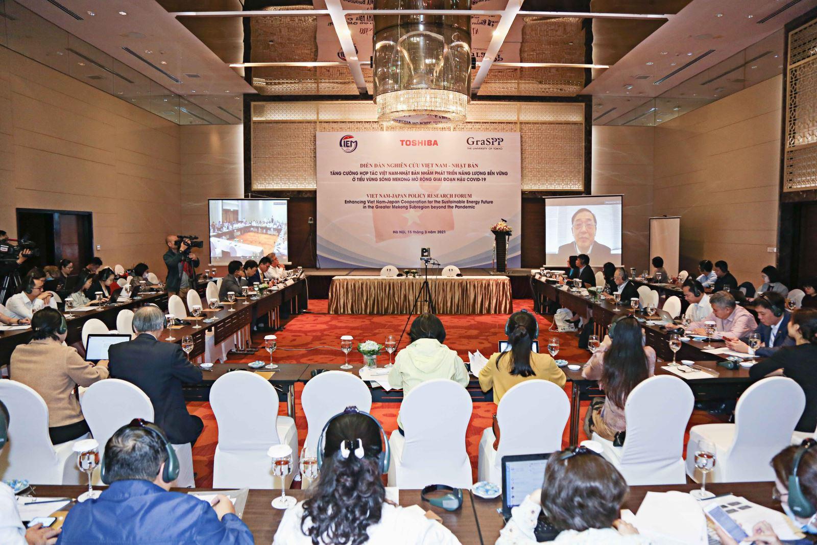Diễn đàn Tăng cường hợp tác Việt Nam - Nhật Bản nhằm phát triển năng lượng bền vững ở tiểu vùng sông Mê kông mở rộng giai đoạn hậu Covid-19